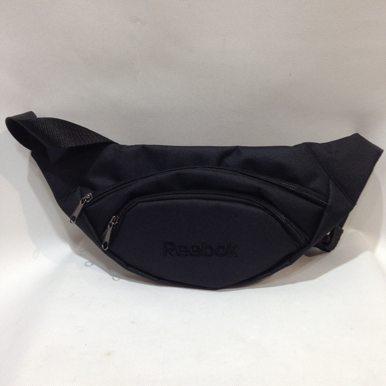 Поясная сумка  Reebok / Рибок (реплика) черного цвета