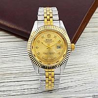 Мужские наручные часы (копия) Rolex Date Just Silver-Gold