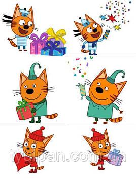 Вафельная картинка Три кота