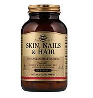 Solgar, Кожа, ногти и волосы, skin nails hair МСМ, 120 таблеток