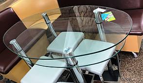 Стіл обідній скляний