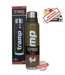 Термос Tramp 1,6л. Expedition Line оливковий TRC-029-olive. Термосы термокружки.Термос трамп