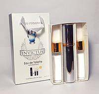 Paco Rabanne Invictus чоловічий парфум в подарунковій упаковці 3 по 15 ml (репліка)