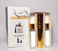 Жіночий парфум Lalique l'amour (лалік лямур) в подарунковій упаковці 3 по 15 ml (репліка)
