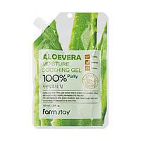 Многофункциональный гель с экстрактом алое вера Farm Stay Aloe vera Moisture Soothing Gel 100%, 100 мл