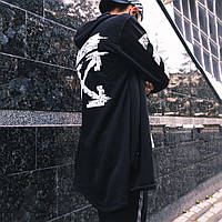 Мантия на молнии с трехнитки Off white Pixel Zipp черная (только размер L), фото 1