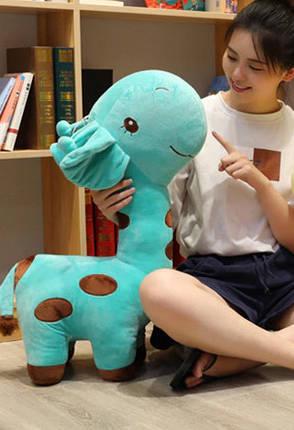 Плюшевый жираф, мягкие игрушки, плюшевая игрушка жираф бирюзовый 55 см, фото 2