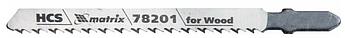 Полотна для електролобзика по дереву, T101B, 75 х 2,5 мм, HCS MTX Professional (782019)