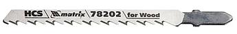 Полотна для електролобзика по дереву, 3 шт. T101D, 75 х 4,0 мм, HCS MTX Professional (782029)