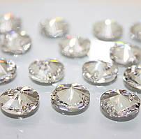 Пришивные камни Сваровски, арт 3200, Crystal, 12мм, 1шт