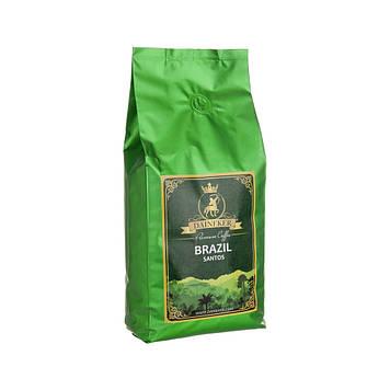 Кофе зерновой натуральный АрабикаБразилия Сантос (1кг) Premium
