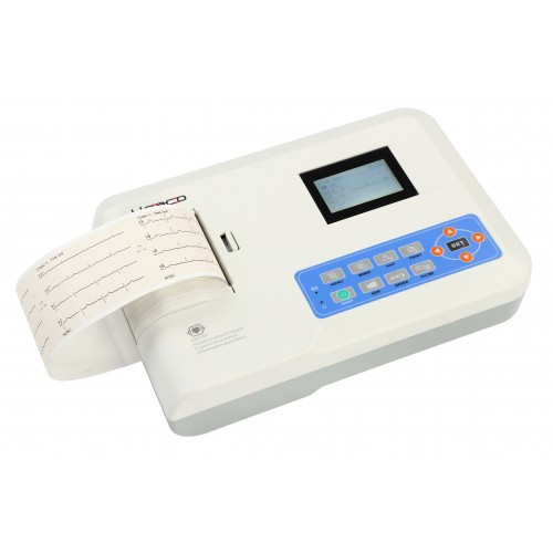 Електрокардіограф 3-х канальний Heaco 300G з монохромним екраном