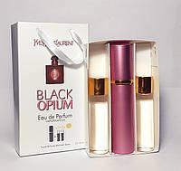 Женская туалетная вода Yves Saint Laurent Black Opium (Ивсент Лоран Блэк Опиум) в подарочном наборе (реплика)
