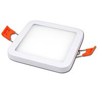 Потолочный светодиодный светильник, master LED, 18W, 4000K, врезной, Ortho, алюминий, квадратный, белый.