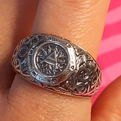 Мужская серебряное кольцо Велес