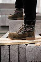 Чоловічі черевики Тімберленд Тimberlad Military Brown (Топ Репліка), фото 1