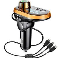 FM модулятор Трансмиттер FM MOD. CAR Bluetoth / 3.1А Быстрая зарядка