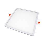 Потолочный светодиодный светильник, master LED, 24W, 4000K, врезной, Ortho, алюминий, квадратный, белый.
