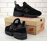 Мужские кроссовки New Bаlance 574 Sport V2 в стиле Нью Беланс ЧЕРНЫЕ (Реплика ААА+), фото 6