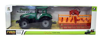Трактор инерц. з причепом 0488-310, знімний дах, в слюді 46,5*15*12 см