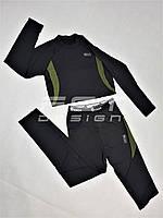 Термобелье спорт костюм ESDY черное