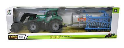 Трактор инерц. з причепом 0488-413, знімний дах, в слюді 53,5*15,5*11,5 см