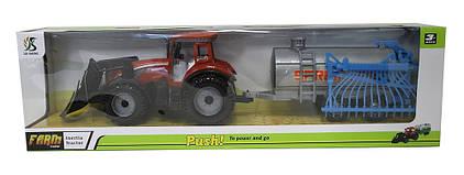 Трактор инерц. з причепом 0488-513, знімний дах, в слюді 53,5*15,5*11,5 см