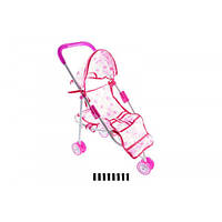Коляска для кукол,трость, металлическая,трость с козырьком, візочок 3-х колісний сидячий 836А