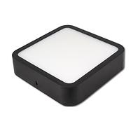 Потолочный светодиодный светильник, master LED, 18W, 4000K, накладной, Ortho, алюминий, квадратный, чёрный.