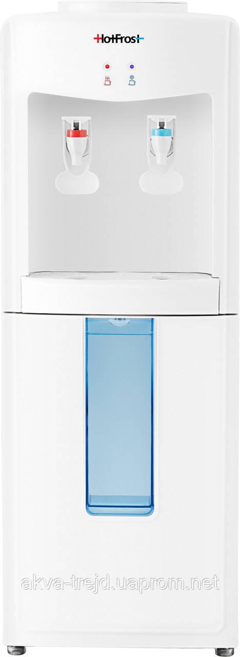 Кулер для воды (ХотФрост) HotFrost V118 без шкафчика cо встроенным стаканодержателем