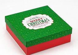 """Подарочная коробка NZY """"Marry Christmas"""" 18х18х6 см Зеленый / Красный (128731)"""