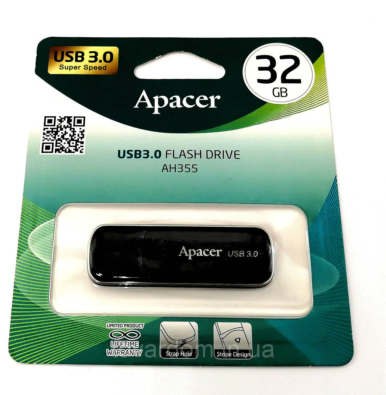USB флеш накопитель Apacer 32GB AH355 Black USB 3.0