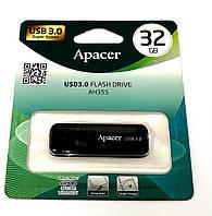 USB флеш накопитель Apacer 32GB AH355 Black USB 3.0, фото 1