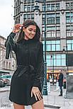Платье-рубашка с бахромой из эко-замши, фото 2