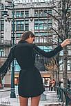Платье-рубашка с бахромой из эко-замши, фото 3