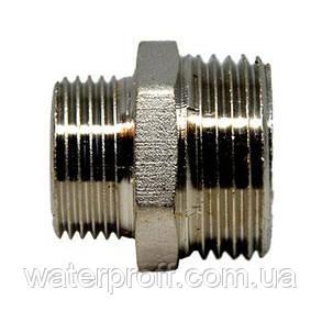 """Ниппель Lexline никель 2""""н-1 1/4""""н, фото 2"""