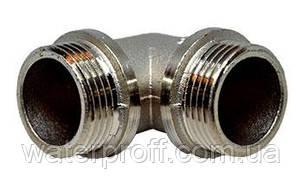 """Коліно Lexline нікель 1/2""""н-1/2""""н, фото 2"""