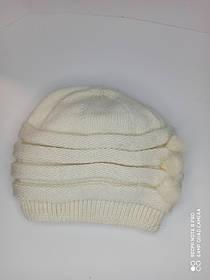 Теплая шапка с норкой Urchin молочная