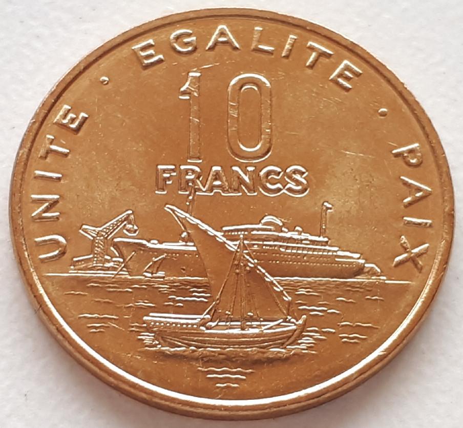 Джибуті 10 франків 2013
