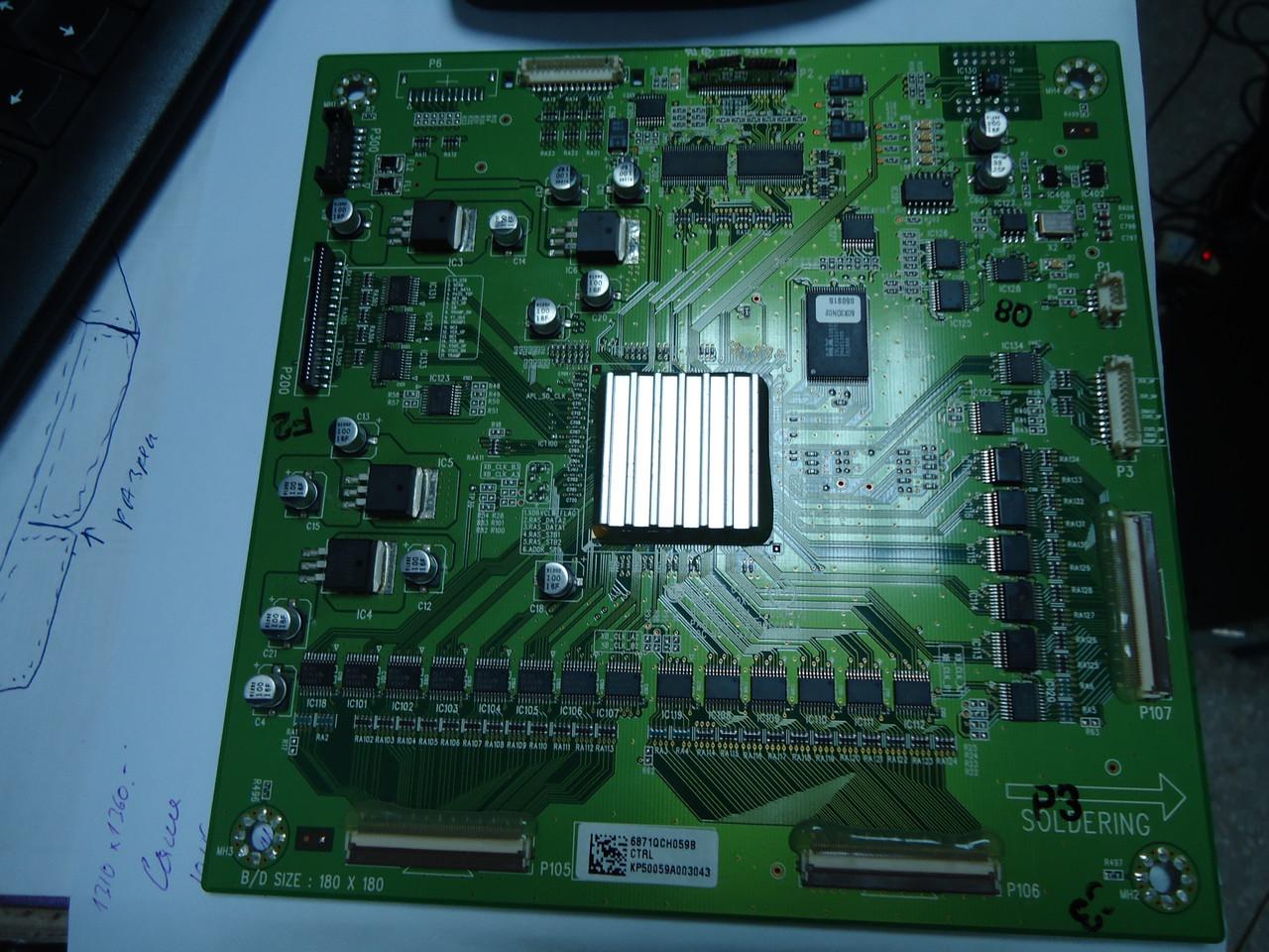 Запчастини до плазмі LG CONTROL BOARD 6870QCC013A (6871QCH059B)