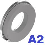 Шайба с резиновой прокладкой EPDM нержавеющая А2