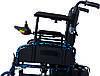 Коляска инвалидная, с двигателем, складная (JT-101), фото 3