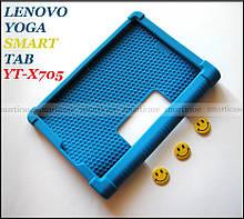 Синий резиновый чехол бампер Lenovo Yoga Smart Tab YT-X705L X705F