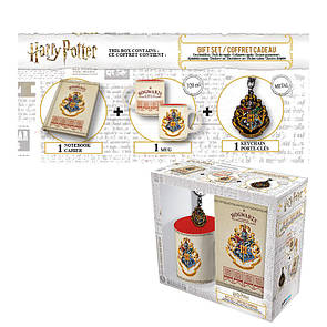 Подарочный набор HARRY POTTER - чашка, брелок, блокнот Хогвартс