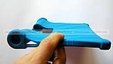 Синий резиновый чехол бампер Lenovo Yoga Smart Tab YT-X705L X705F, фото 6