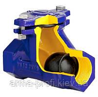 Обратный клапан подъемный с шаром для загрязненных жидкостей Ду 25 Zetkama 401