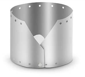 Титановаяветрозащита 60*15 см. ветрозащитный экран для газовых горелок. Вітрозахист для пальників.