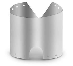 Титановаяветрозащита 60*19 см. ветрозащитный экран для газовых горелок. Вітрозахист для пальників.