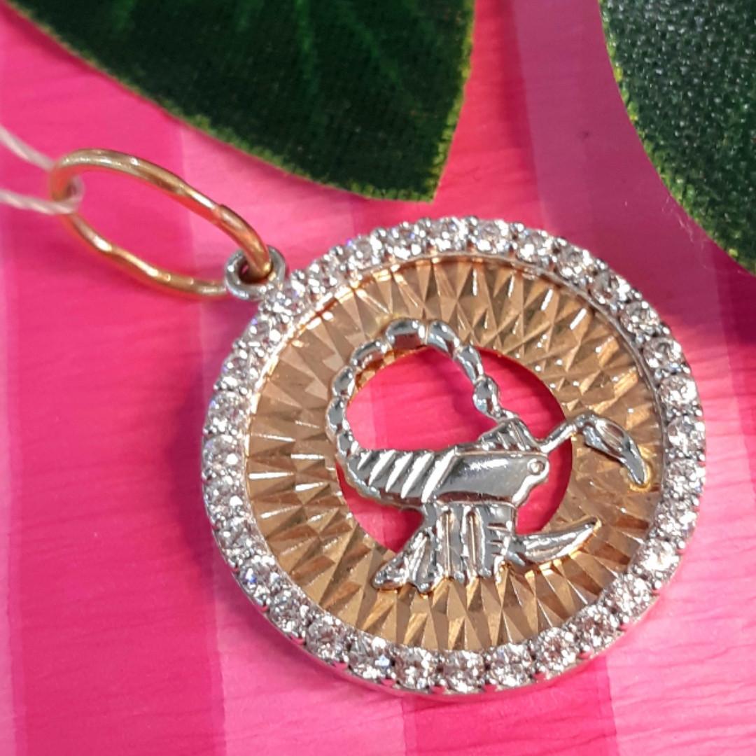 Золотой кулон знак зодиака Скорпион - Кулон Скорпион золото