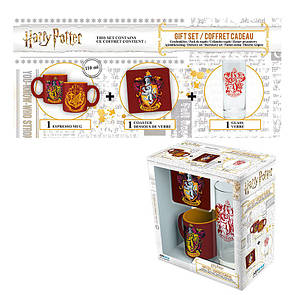 Подарочный набор HARRY POTTER - чашка, подставка под чашку, стакан Гріффіндор